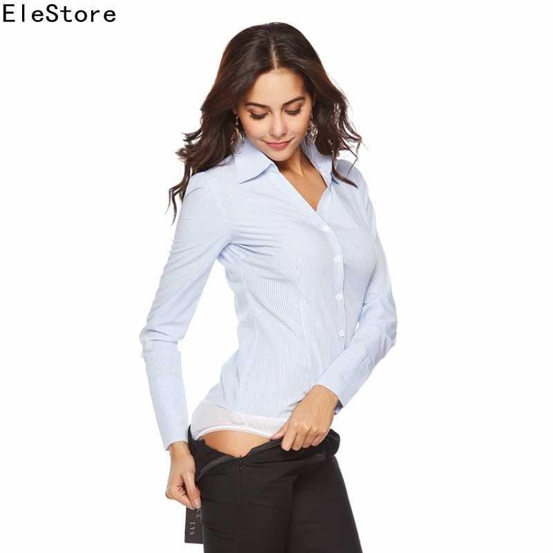 Ladies Blouses Long Sleeve Bodysuit