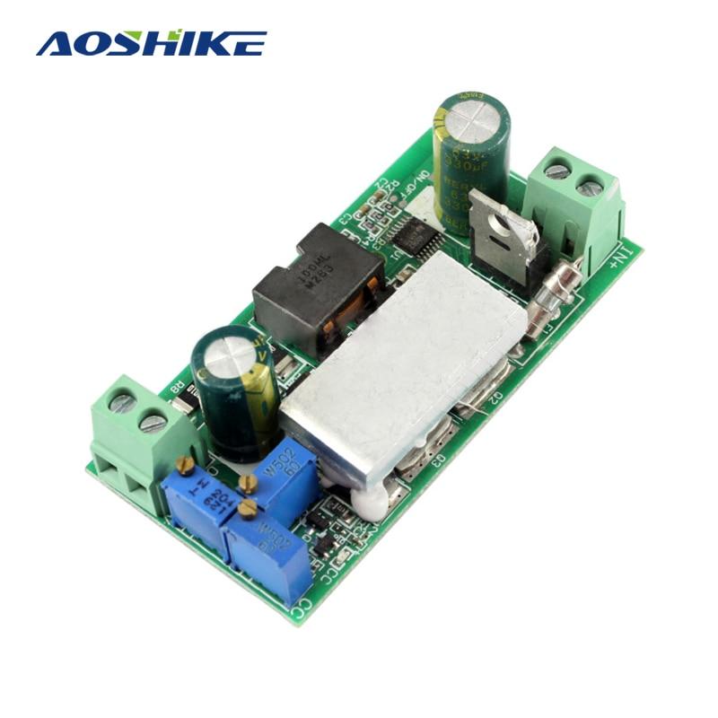 цена на Aoshike DC DC 10A Buck Converter Step Down Module Adjustable Constant Voltage Current Power Board Inverter Led Driver