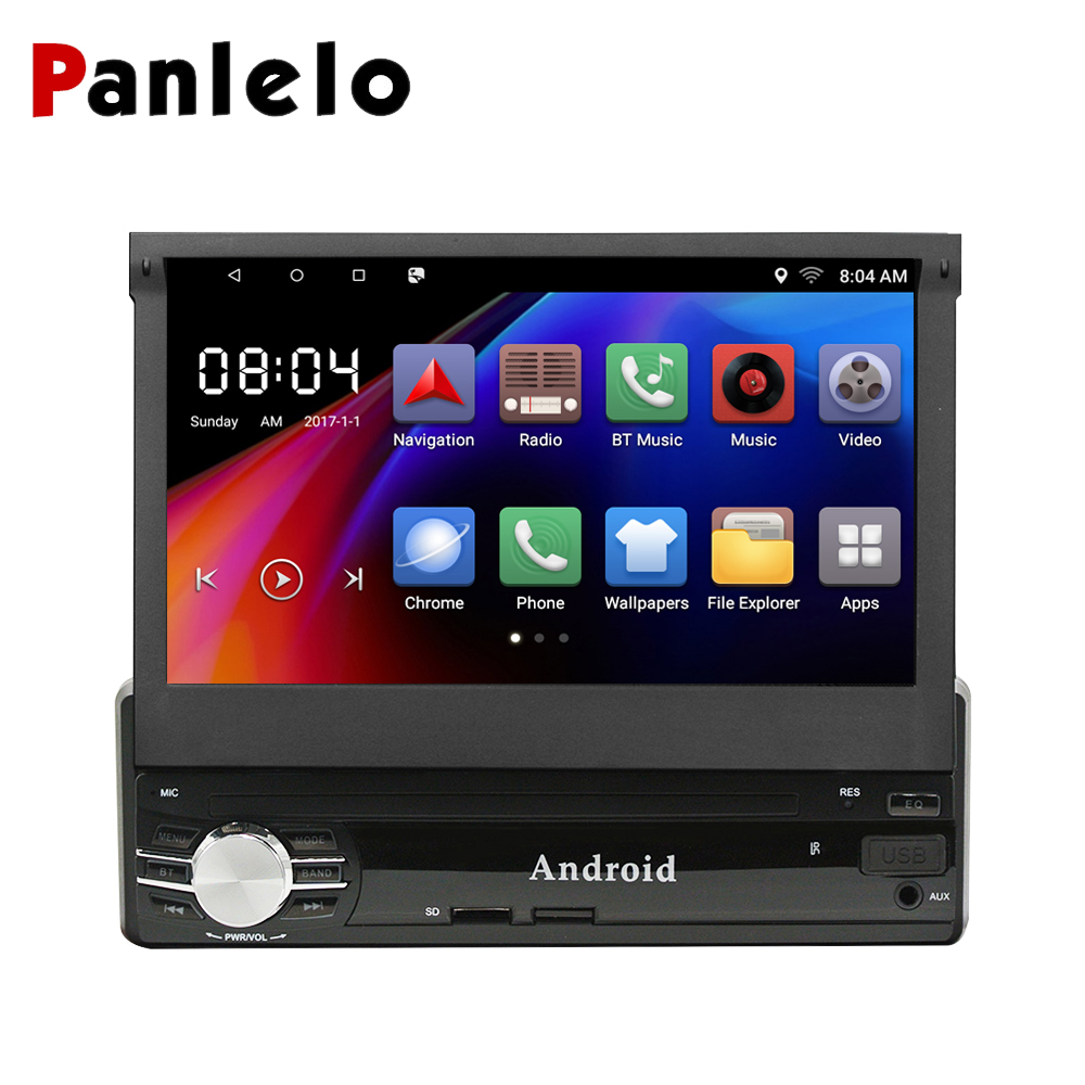 Panlelo 1 din Android Single Din Car Stereo 1G+16G / 2G+16G 7 HD Touch Screen Android 6.0 GPS Navigation Car Multimedia Player sprut mikari 7 16g 65mm lbk
