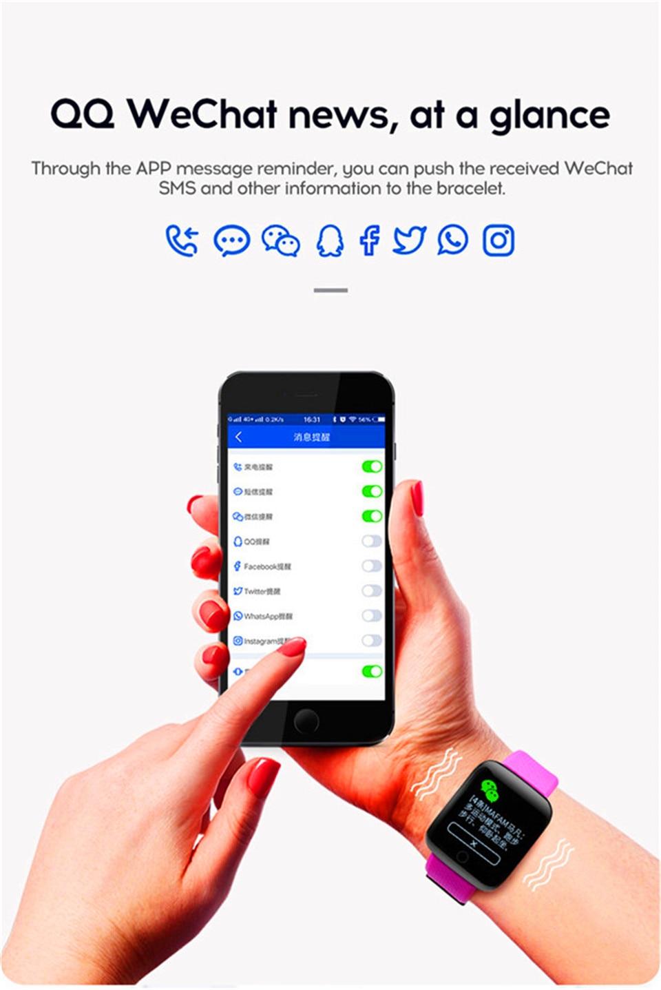 HTB1KgqSO9zqK1RjSZPcq6zTepXaa Smart Wristband Heart Rate Monitor Smart Fitness Bracelet Blood Pressure Waterproof IP67 Fitness Tracker Watch For Women Men