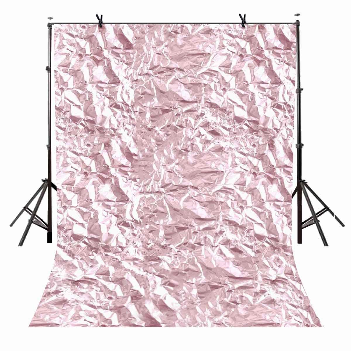 5x7ft Millennium Pink Backdrop Bright Wrinkles Plastic Paper Photography Background Studio Props