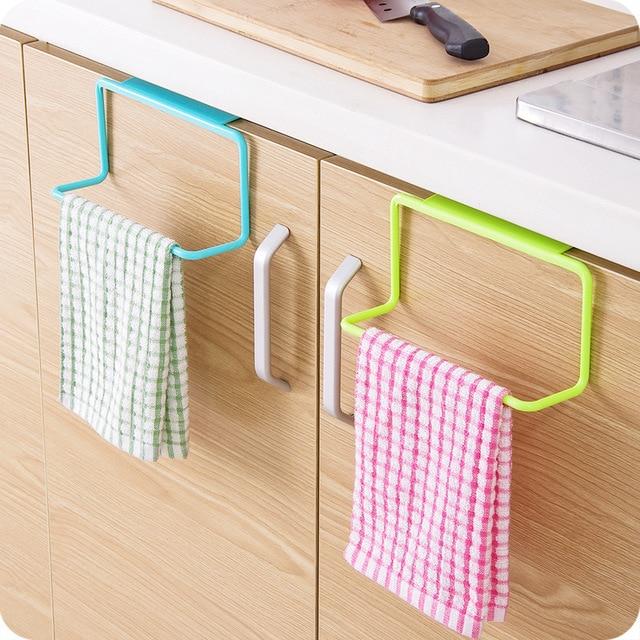 Organizer do kuchni wieszak na ręczniki łazienka ręcznik wiszący uchwyt szafka stojaki i uchwyt na wieszak do przechowywania półka na akcesoria kuchenne akcesoria