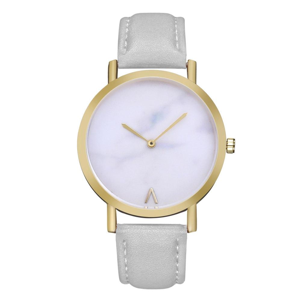 2018 venta de relojes de moda reloj de cristal mujeres reloj de cuero - Relojes para mujeres