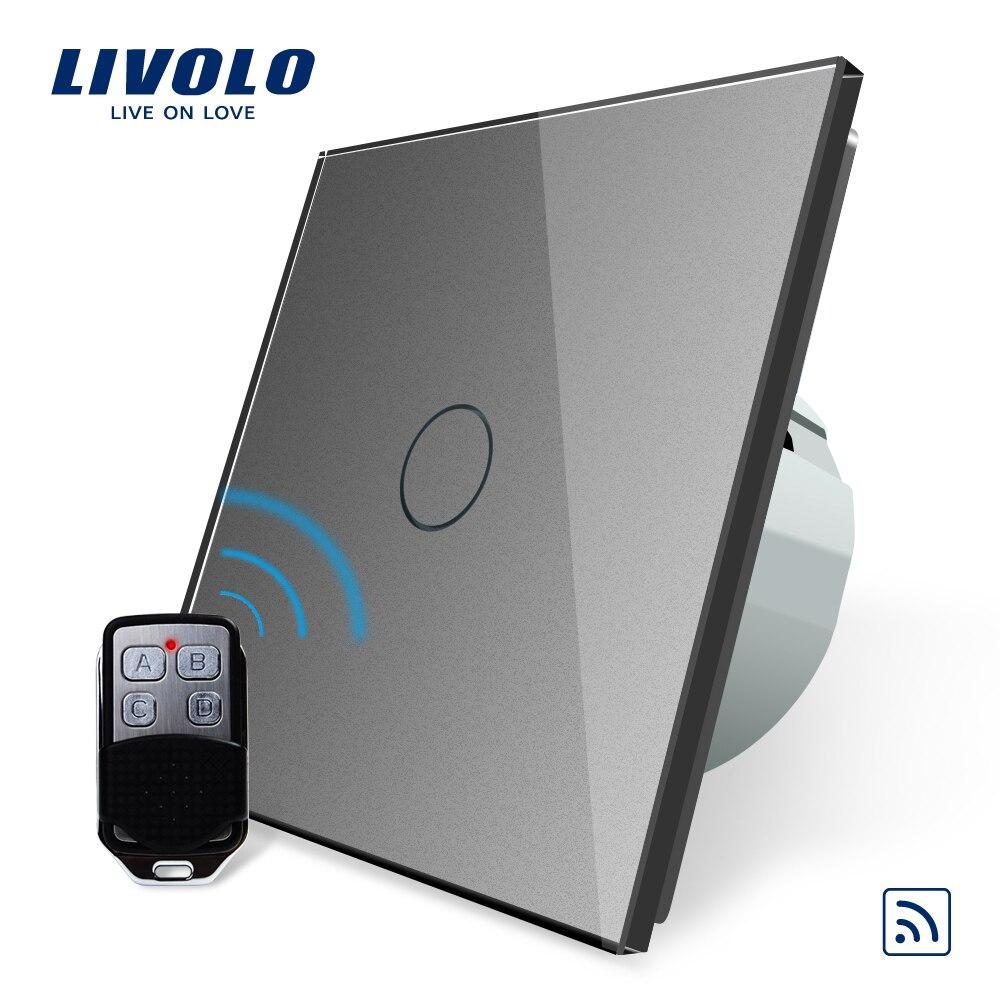 Livolo EU commutateur à distance Standard, AC 220 ~ 250 V interrupteur tactile à distance avec Mini télécommande C701R-11-RT12