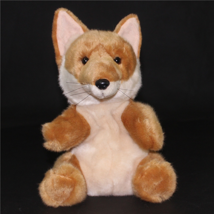 Plush Wild Dolls Toy Child Simulation Foxes Doll Puppets Toy  Baby Gift