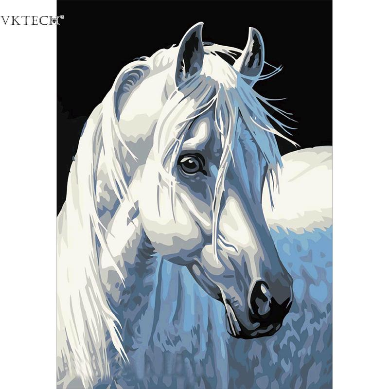 DIY Horse Diamond Paintings Embroidery White Horse 5D Diamond Painting Craft hanmad Crafts Home Decor Wall Sticker Cross stitch