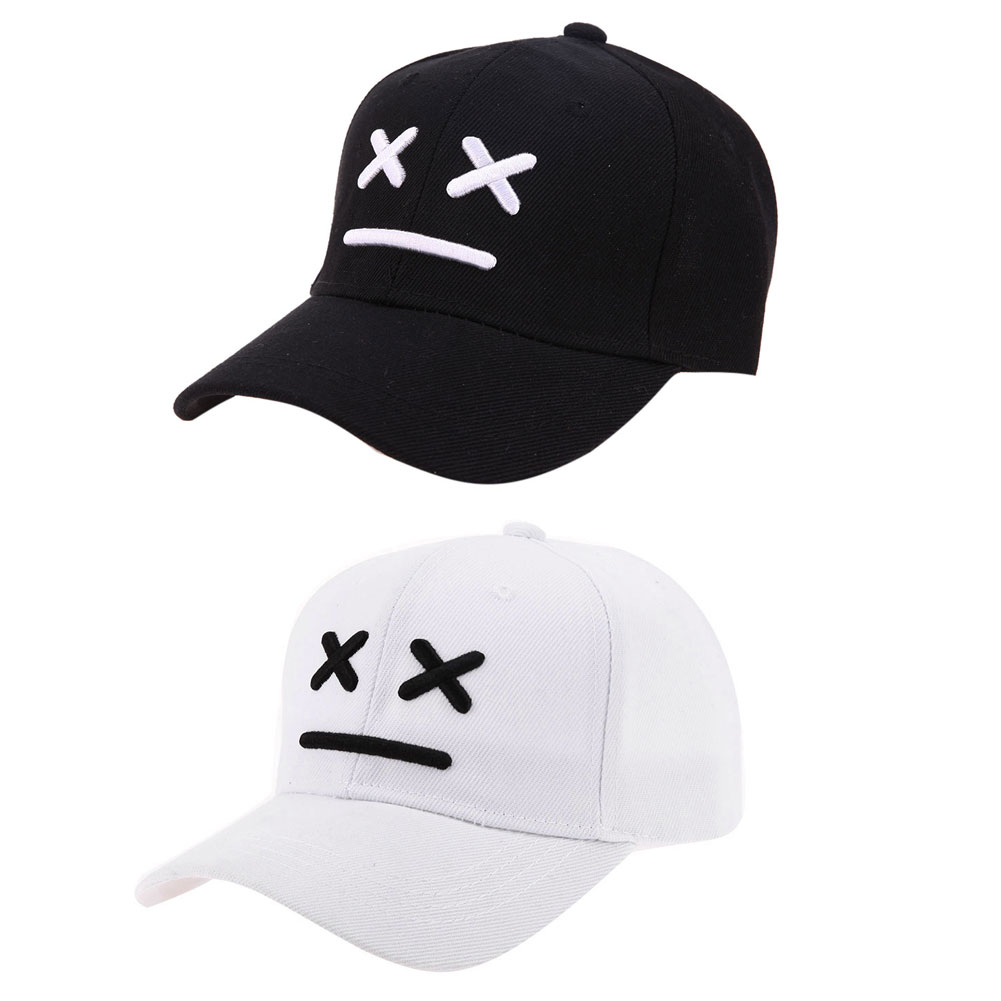 Kids Summer Hats Boys Girls Cute Casual Smiling Baseball Cap Baby Outdoor Sun Hat Baby Snapback Cap Black White ColorKids Summer Hats Boys Girls Cute Casual Smiling Baseball Cap Baby Outdoor Sun Hat Baby Snapback Cap Black White Color
