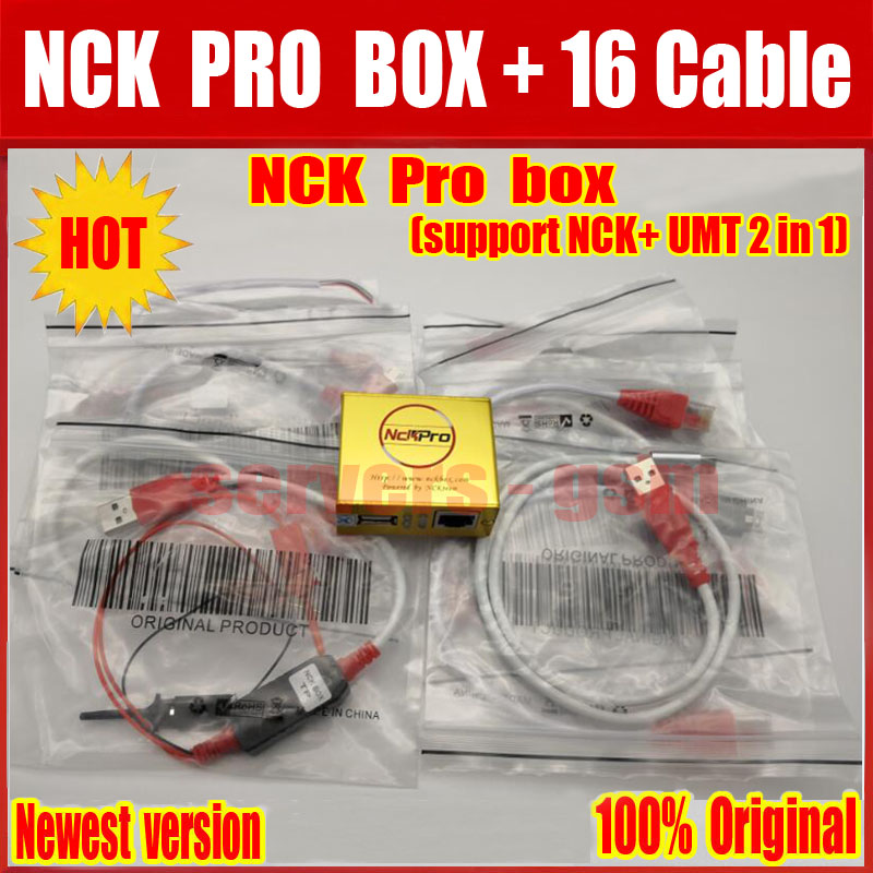 US $83 5 |2019 Newest version Original NCK Pro Box NCK Pro 2 box (support  NCK+ UMT 2 in 1)new update For Huawei Y3,Y5,Y6 + 16 cables -in Telecom  Parts