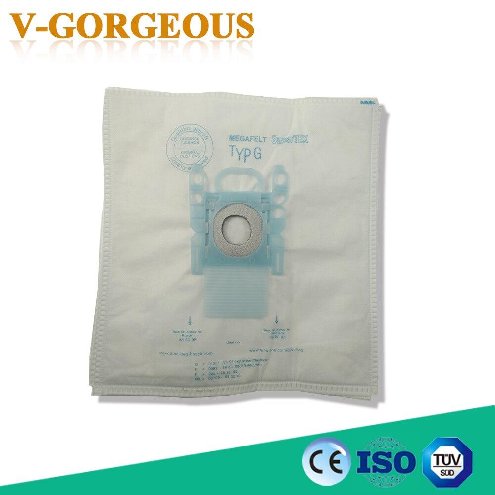 10Pcs/Lots Vacuum Cleaner G Type Cloth Dust Bags Type G Fit For Bosch & SIEMENS BSG6 BSG7 BSGL3126 средство для чистки сукна norditalia nir cloth cleaner аэрозоль 400мл