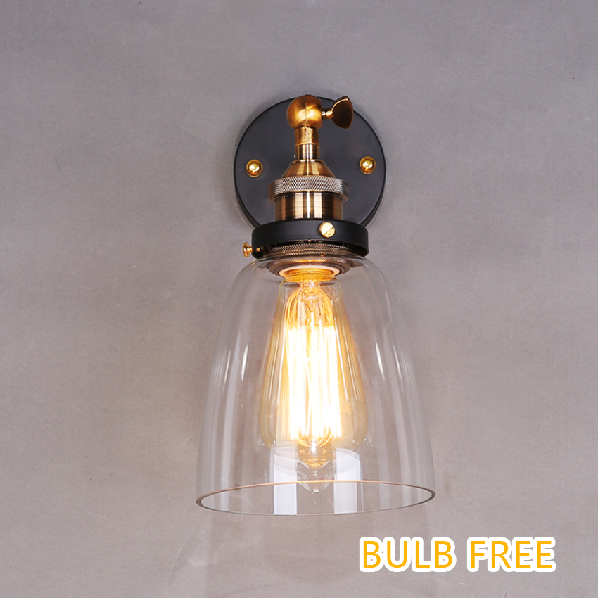 Industrial Vintage wall light copper glass hanging lamp E27 110/220V adjustable wall lamp for home decoration -Lampara colgante valentine s day heart starlight print tapestry wall hanging decoration