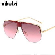 High Quality Women's Oversize Rimless Square Sunglasses Men