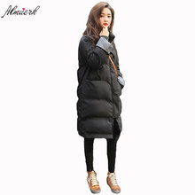 2017 new winter stand collar women's cotton jacket middle-length models fashion loose women's bread clothing jacket L042