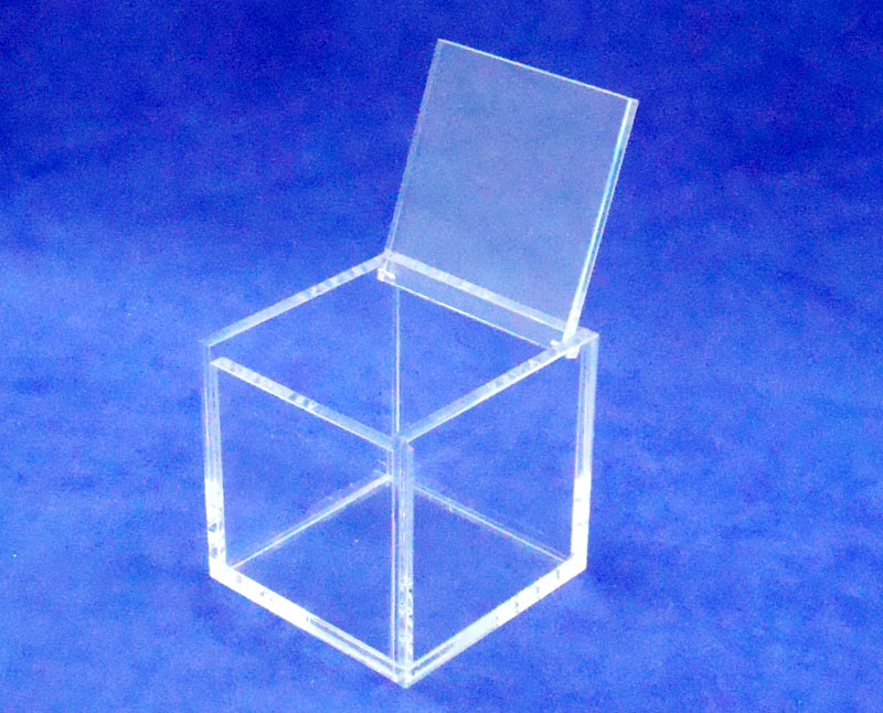 Square 8x8x8cm plexiglass jewelry box acrylic case Favor box with Hinged lid цены