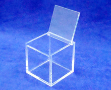 Square 8x8x8cm plexiglass jewelry box acrylic case Favor box with Hinged lid