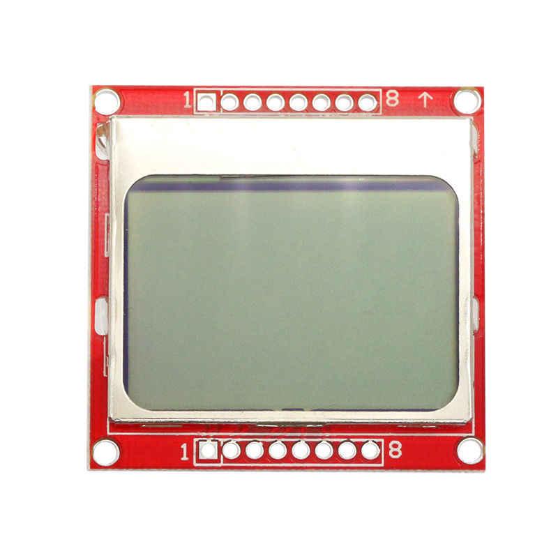 Glyduino para Nokia 5110 84*48 Red Backlight LCD Módulo adaptador PCB para Arduino Placa de desarrollo