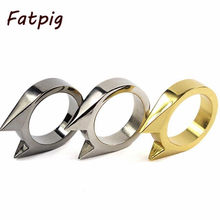 2016 New Fashion Cute Animal Cat Ear Shape Wedding Ring Jewelry Outdoor Survival Tool(China)