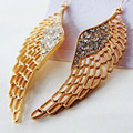 Fashion accessories personalized wings stud earring female elegant rhinestone long design