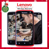 Full Original New Black White Red Display For Lenovo S820 LCD Display Touch Screen With Frame