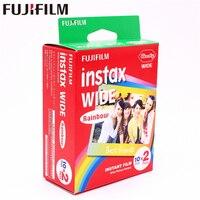 Genuine Fujifilm Instax Wide Rainbow Film 20 Sheets for Fuji Instant Photo paper Camera 300/200/210/100/500AF