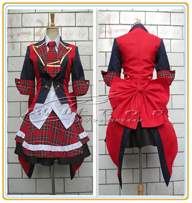 AKB0048 Attack Group Takahashi Minami Cosplay Red Womens AKB0048 Cosplay Costume