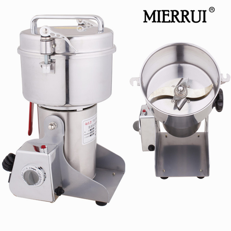 Yellow City 400g stainless steel medicine grinder mill small household electric food grinder powder machine spices grinder machine