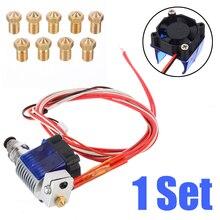 V6 J-head Hotend Remote Extruder Kit 3D Printer Cooling Fan Bracket Block Thermistors Nozzle 0.4mm 1.75mm Filament Parts цена
