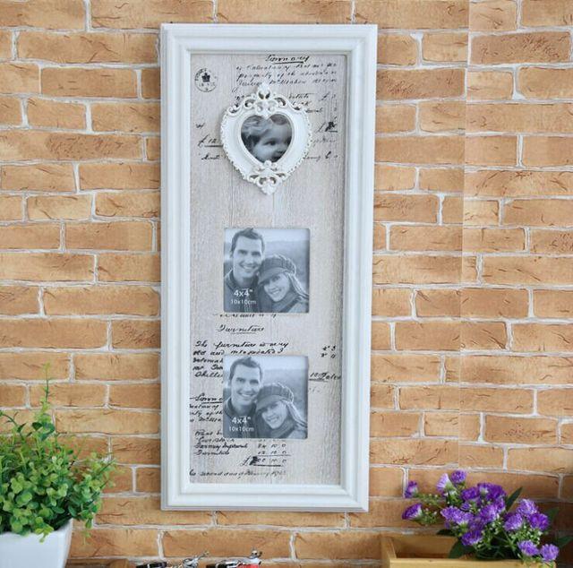 Lamentable Cottage Chic madera Collage en forma de corazón de la ...