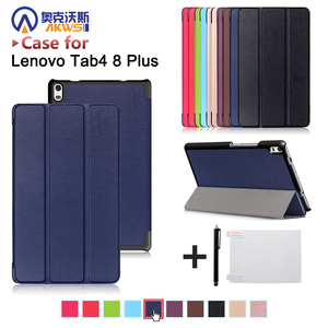 "Funda cover case for Lenovo TAB 4 8 Plus TB-8704N/TB-8704F folio triangle stand cover case for tab 4 8"" plus auto sleep cover(China)"