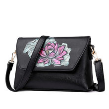 Mother Bag Hand Painted Flower Crossbody Bags For Women 2018 Leather Luxury Handbags Women Bags Designer Handbags High Quality