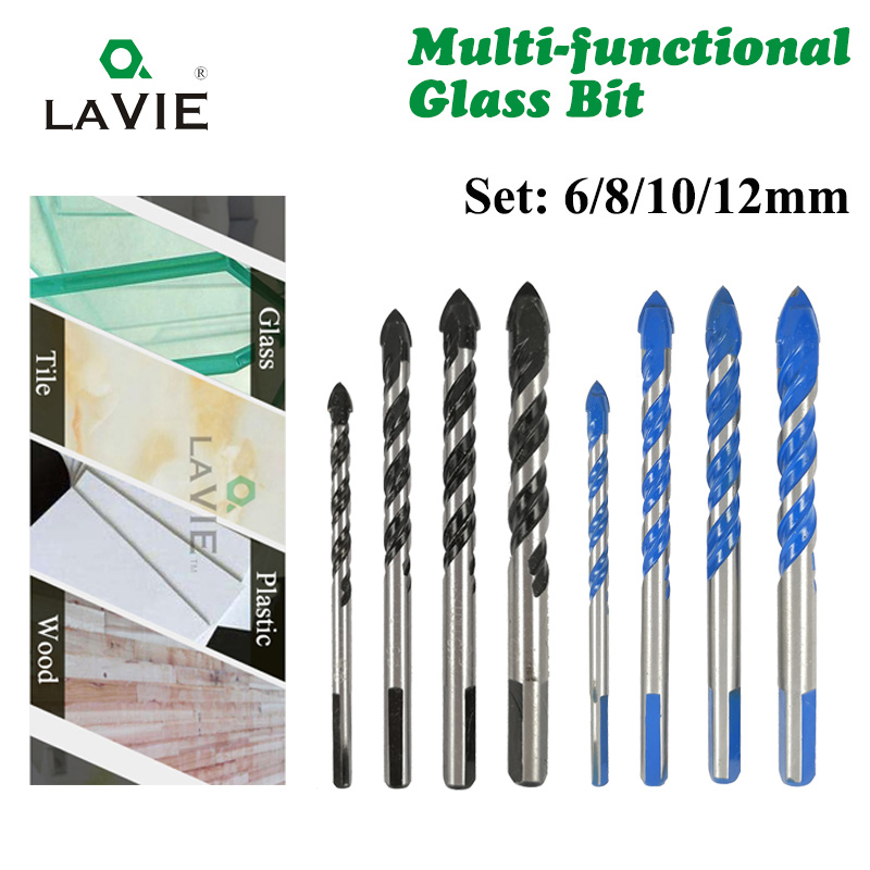 brick glass 5-piece 12mm triangular drill bit for drilling in ceramics wood and marble tile concrete
