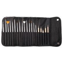 20Pcs/Set Nail Art Decorations Brush Set Tools Professional Painting Pen for False Nail Tips UV Nail Gel Polish