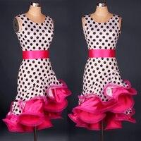 new Women Latin Dance Dress Leopard Clothes For Dancing Lady Cha Cha/Rumba/Samba/Tango/Ballroom dance Skirt zebra Dance wear
