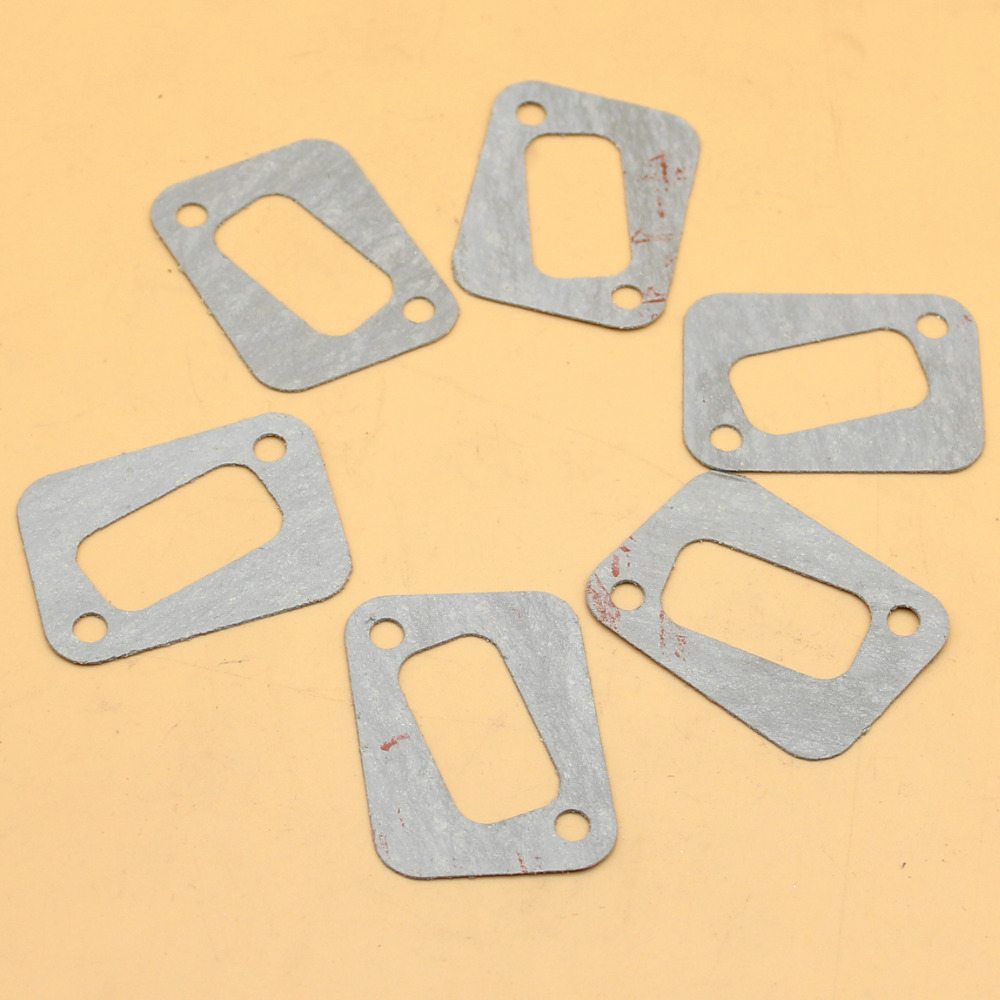 6Pcs/lot Exhaust Muffler Gasket Fit HUSQVARNA 340 350 345 346XP 351 353 Chainsaw Parts Replace 503 86 25-01