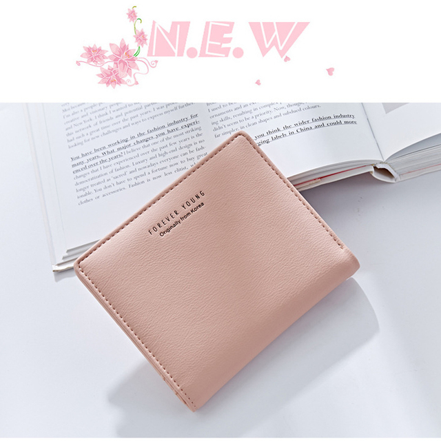 WEICHEN Thin Style Women Wallets Zipper Coin Bag in Back Blue Soft Leather Ladies Card Holder Slim Purse Female Wallet Small HOT 8