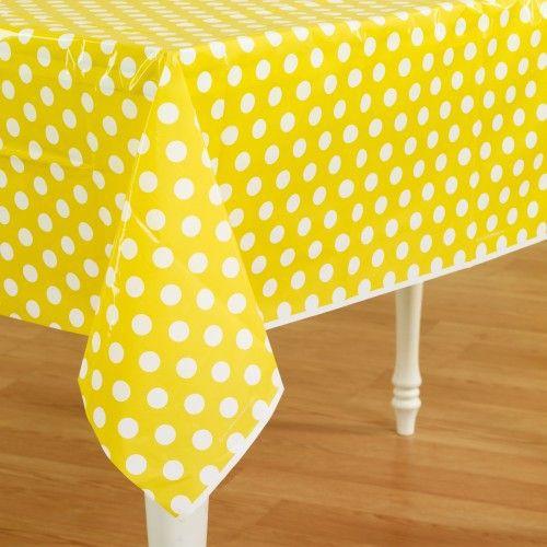 Ipalmay plastic candy polka dot baby shower tablecloth for Black polka dot tablecloth