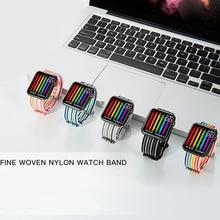 Sport Strap for correa Apple Watch Band apple watch 4 5 42mm 44mm 38mm 40mm iwatch belt 5/4/3/2/1 band Woven Nylon Bracelet аксессуар ремешок apple watch 38mm woven nylon band red mpw02zm a