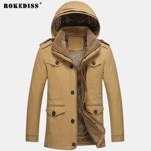 ROKEDISS 2017 Fashion Warm Outwear Winter Jacket Men Windproof Hood Men Jacket Warm Men Parkas Size M-6XL Z234