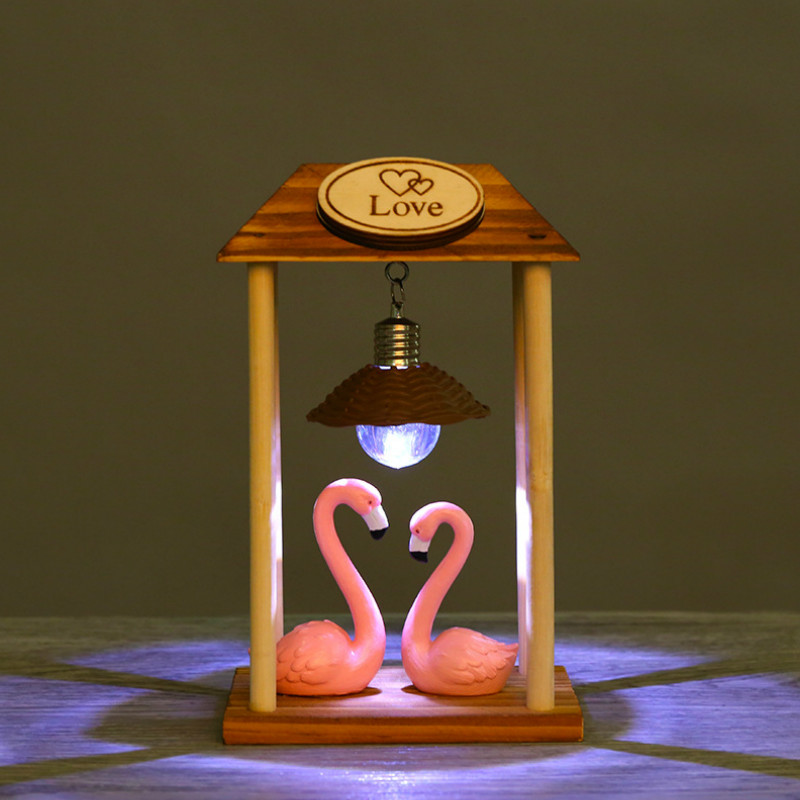 Flamingo LED Night Light Table Lamp Neonlights Sign Handcrafted Home Party Decoration Lighting For Baby Kid Sleeping Gift