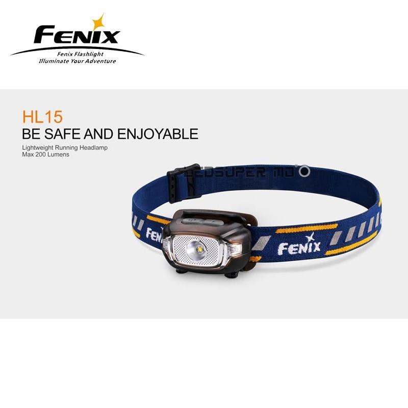 New Arrival Fenix HL15 Cree XP-G2 R5 LED 200 Lumens Lightweight Running Headlamp with 2 Free AAA Batteries налобный фонарь fenix hp30r cree xm l2 xp g2 r5 черный