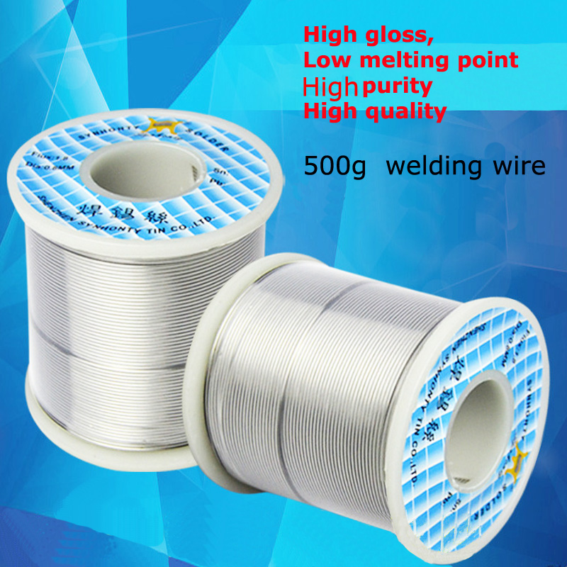 500g/Roll 63A Rosin Core Welding Wire Reel 2% Flux Tin Lead Solder Iron Solder Wire 63%Sn 35%Pb High Gloss High Purity cube page 5