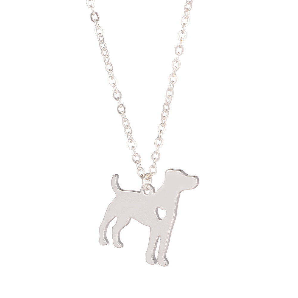Hot Sale 10pcs Jack Russell Terrier Dog Necklace Jack Russell Jewelry Custom Dog Pendant Pet Jewelry for women