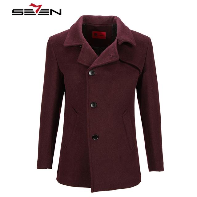 Seven7 Marca de Alta Qualidade Homens Inverno Quente Casacos de Lã Casacos Jaquetas Hombre Manteau Moda Masculina Clássico 907K28030