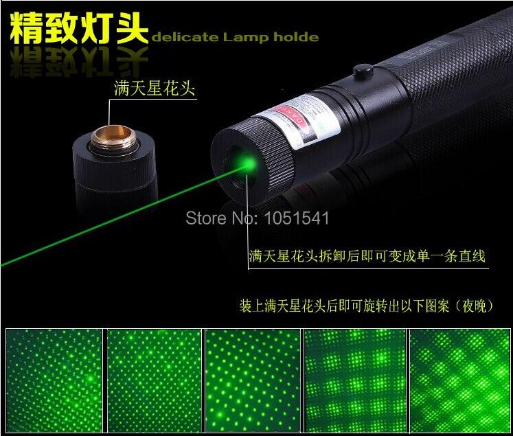 NEW High Power Military Burning Powerful Green Laser Pointer 50000m 532nm LAZER Focusable Burn Match,Pop Balloon Burn Cigarettes