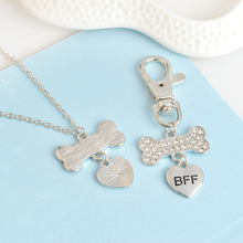 Rhinestone Decorated Dog Collar Pendant and Master Necklace Matching Set