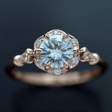 HOMOD Vintage Crystal Rings for Women Magic Mirror Retro Rin