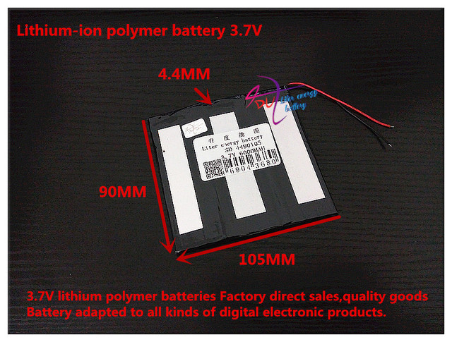 3.7V 6000mAH 4490105  ( polymer lithium ion battery ) Li-ion battery for tablet pc power bank