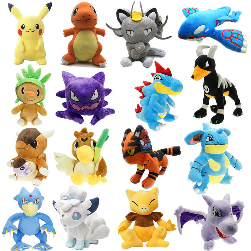 Alta qualidade Bonito Meowth Vulpix Charmander Bulbasaur Mew Deus besta Elfo Eevee Plush doll stuffed toy gift Collection