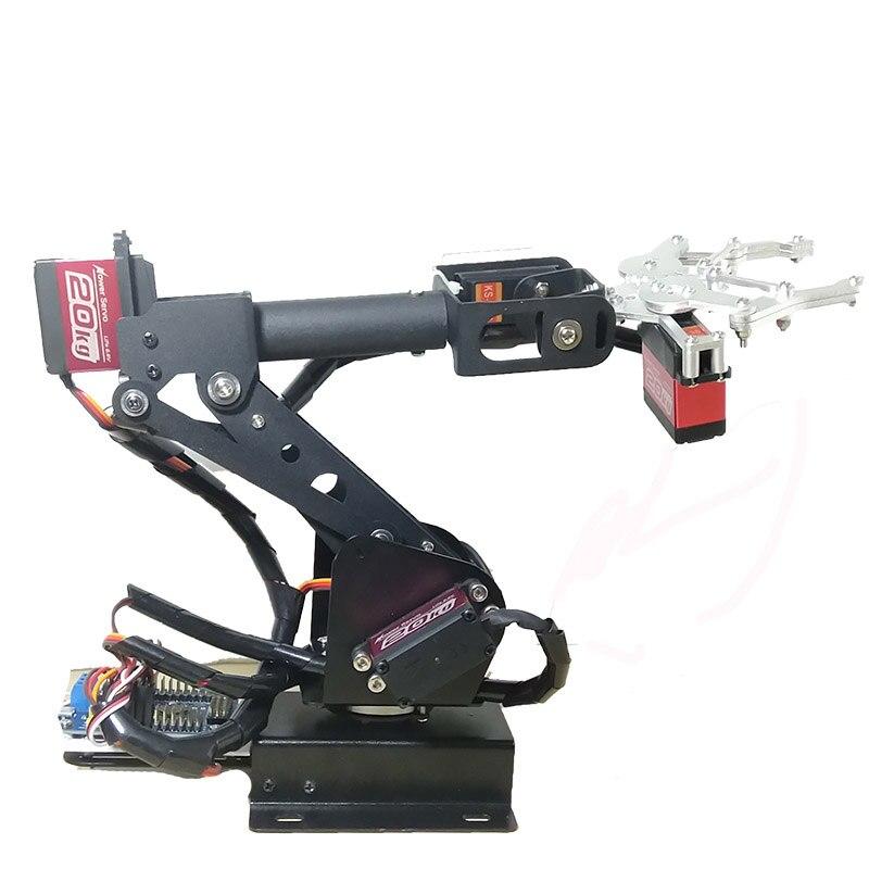 Totalmente Montado 6 Eixo Mecânico Robótico Braço Braçadeira para Arduino Framboesa, mor Dhl frete grátis em algumas áreas