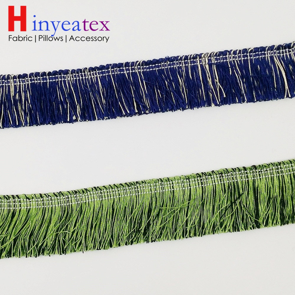 2 colors Cushion Cover Fringe Blue Green Lace Trimming For Sofa Decorative Interior Throw Accessories Sell by Bale(10 meters)