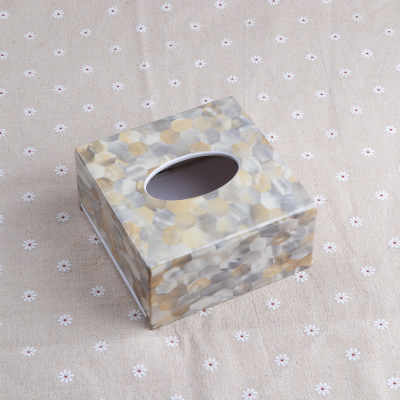 Креативная акриловая коробка для салфеток, держатель для салфеток, диспенсер для салфеток для украшения дома TB018 - Цвет: Square Design 1